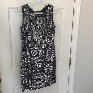 Aidan mattox silver  dress